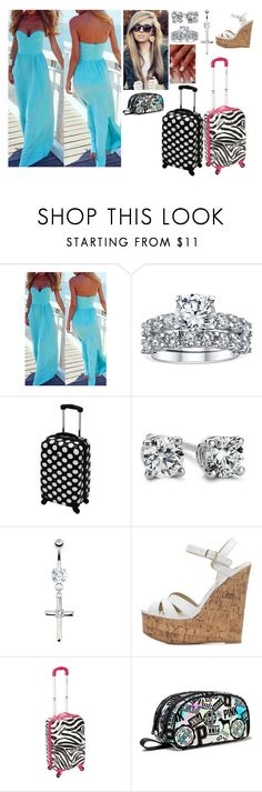 """Bahama Bride Reporting For Duty"" by a7x-goddess ❤ liked on Polyvore featuring Blue Nile and Charlotte Russe"