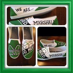 Marshall University Shoes Generic Toms by HandpaintedDesign, $50.00