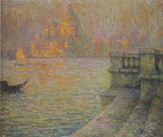 Venise dans l après-midi, huile sur toile de Henri Eugène Augustin Le Sidaner 1918