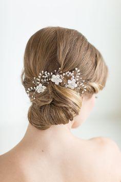 Horquillas para el cabello, horquillas de novia, pasadores de pelo de boda flor de novia