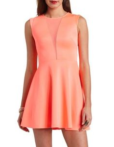 04c986a3418 plunging mesh deep v skater dress, love the color Kids Fashion, Classy  Fashion,