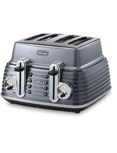 Delonghi Scultura Steel Grey Toaster