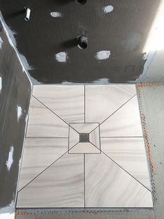 The Beauty of a European Shower! What are benefits and advantages of installing a European shower base? Highly sought after high-end, one of a kind shower. Bathroom Plans, Bathroom Plumbing, Basement Bathroom, Bathroom Flooring, Bathroom Renovations, Tile Flooring, Dyi Bathroom, Plumbing Pipe, Bathroom Tile Designs