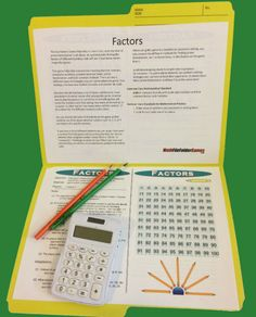 Factors - found in = 42 printable math games for upper elementary and middles school students, easy-to-setup for any math class!