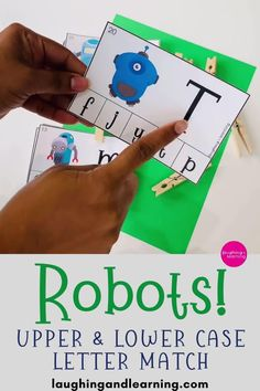 Beep Beep! Here come the robots! Use this robot themed printable math and literacy activity bundle to laugh and learn and work on kindergarten skills! #printableactivities #preschoolactivities #mathactivities #preschoolmath #printablepuzzles #education #kindergartenpuzzles #homeschoolactivities #numbersense #subitizingskills  #printablemathactivities #education  #literacyactivities #alphabet #printableliteracyactivities Printable Puzzles, Printable Activities For Kids, Alphabet Activities, Educational Activities, Math Literacy, Preschool Kindergarten, Kindergarten Activities, Robots, Laughing