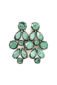 Rivierra Chandelier Earrings in Verdant Shimmer