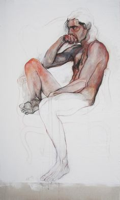 love modern paintings and contemporary drawings by Sandra Krasker