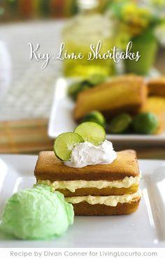 Key Lime Shortcake. A delicious and easy dessert recipe! Livinglocurto.com @Amy Locurto | LivingLocurto.com