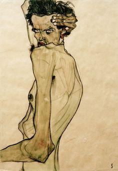 Bild: Egon Schiele - Selbstbildnis