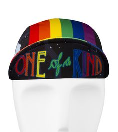Aero Tech Rush Cycling Caps - Rainbow One of a Kind - Made in USA  One of a Kind Life is all rainbows and unicorns, and so is this rush cap. It is made of 100% polyester jersey material, which makes this a light and comfortable cap to wear. This one size fits all cap has an elastic back that adds to its comfort. Its fun and colorful design will take you on a rainbow ride. Whether or not you believe in unicorns (and, c'mon, we all know they're real) believe that this One of a Kind cap will…