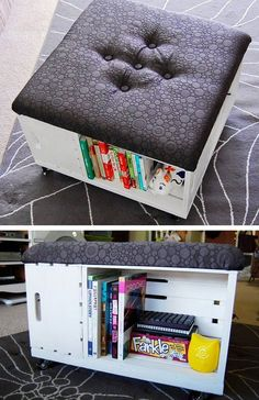 DIY Ottoman With Storage   Click Pic for 26 DIY Living Room Decor on a Budget   DIY Living Room Decorating Ideas
