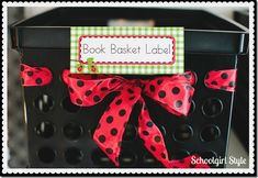 Schoolgirl_Style Ladybug theme 20  Classroom Organization by Schoolgirl Style  www.schoolgirlstyle.com