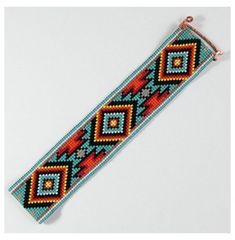 Indian Beadwork, Native Beadwork, Native American Beadwork, Loom Bands, Seed Bead Patterns, Beading Patterns, Motifs Perler, Bead Loom Bracelets, Loom Beading