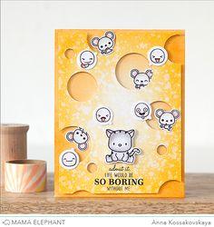 Mama Elephant Stamp Highlight: Little Emotions @akossakovskaya #cardmaking #mamaelephant
