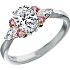 Oval Diamond Engagement Ring Natural Pink Diamonds Accents
