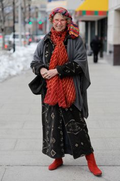 ADVANCED STYLE: A Colorful Winter