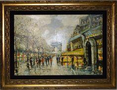 """RICHARD PORTE - """"Paris"""" - Óleo sobre eucatex, med: 68 x 45 cm. A.C.I.D e verso."""