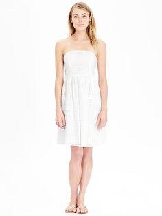 Women's Eyelet Strapless Dresses