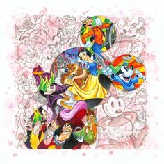 """""""Colorful Characters"""" by Tim Rogerson for Disney Fine Art"""