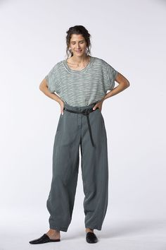 Order our Pullover Siljina 026 from our OSKA Spring/Summer 2020 collection today Uk Summer, Balloon Pants, Praise And Worship, Knitwear, Feminine, Stripes, Pullover, Street Styles, Linens