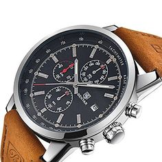 Cheap masculino, Buy Quality masculinos relogios directly from China masculino watch Suppliers: Fashion Chronograph Watch Men Sport Watch Top Brand Luxury Waterproof Leather Quartz Men Watch Male Clock Relogio Masculino Casual Watches, Cool Watches, Watches For Men, Wrist Watches, Men's Watches, Datejust Rolex, Fitness Watches For Women, Mens Sport Watches, Luxury Watches
