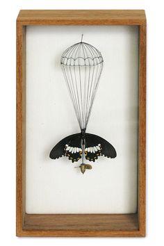 """""""Broken Butterflies"""" - Broken butterflies repaired with new wings and bodies 2011 by Anne Ten Donkelaar"""
