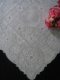 Vintage Appenzell Style Linen Wedding Hankie
