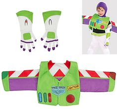 Complete your favorite Toy Story character costume with our Buzz Lightyear Accessory Kit. Kit includes a set of Star Command wings and gloves with Buzz Lightyear's signature designs. Buzz Lightyear Diy Costume, Disfraz Buzz Lightyear, Buzz Costume, Buzz Lightyear Wings, Toy Story Halloween Costume, Toy Story Costumes, Toy Story Buzz Lightyear, Halloween Ideas, Toy Story Theme