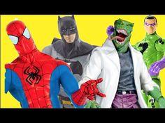 #spiderman #batman  Homem Aranha  Spider Man  Batman  Charada Riddler  Lagarto Lizard Marvel DC Comics Liga da Justiça Justice League Avengers Vingadores  Brinquedos Bonecos Toys Kids