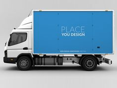 One clean PSD showing a truck in sideview. The dimensions are 1280 x 597 px.
