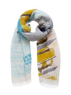 Inuitoosh Pool Scene Scarf Pool Colors, Adventure Outfit, Summer Scarves, Scene, Seasons, Cotton, Blue, Seasons Of The Year, Stage