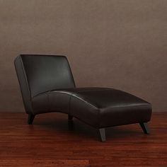 Cleo Dark Brown Leather Chaise | Overstock.com