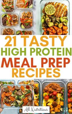 Healthy High Protein Meals, Easy Healthy Meal Prep, High Protein Recipes, Healthy Dinner Recipes, Healthy Breakfasts, Protein Packed Foods, Low Calorie Meal Prep Lunches, Meal Prep For The Week Low Carb, Eating Healthy