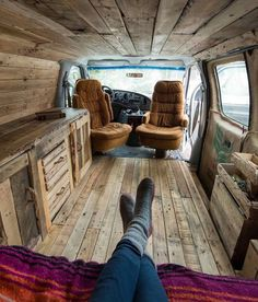 Interior Design Ideas For Camper Van Organization45