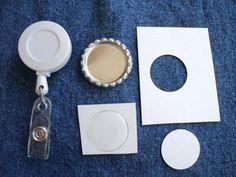 DIY Retractable ID Badge Reel Kit   VeeKayEm - Accessories on ArtFire