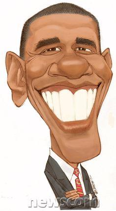 Barack Obama (Caricature) - (BO) - (US President) Dunway Enterprises…