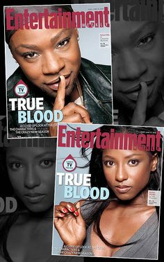 MAG COVERS: RUTINA WESLEY & NELSAN ELLIS PROMOTE 'TRUE BLOOD' ON EW Actor Nelsan Ellis (aka Lafeyette) and actress Rutina Wesley (aka Tara) cover Entertainment Weekly this week in promotion for the 5th season of hit HBO show, True Blood. They are among 11 special edition covers that are being released in conjunction with the series. Check out the season premiere this upcoming Sunday, June 10th..