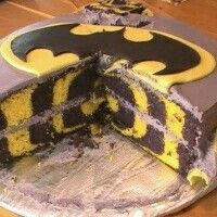 Batman inside surprise cake
