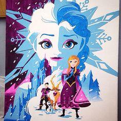 Frozen canvas!
