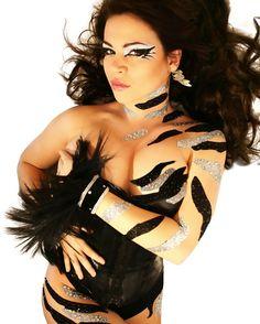 Zebra Temporary BODY ART Body Paint Dancer Stripper Animal Zebra Costume Xotic…