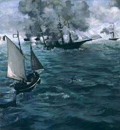 https://flic.kr/p/fForXe | The Battle of the U.S.S. -Kearsarge- and the C.S.S. -Alabama | 1864. Oil on canvas. 137,8 x 128,9 cm. Philadelphia Museum of Art, Philadelphia. 1027.