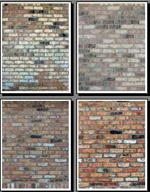 Printable brick backgrounds