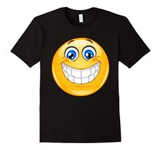 Cotton Imported Machine wash cold with like colors, dry low heat Smiley Emoticons Yellow Emoji shirt for men women teen boys girls Emoji Shirt Big Smile Emoji T-shirt NEW Emoticon Tee Lightweight, Classic fit, Double-needle sleeve and bottom hem Emoji Shirt, Emoticon, Clown Nose, Girl Emoji, T Shirt Rot, Smile Design, Teen Boys, S Man, Black And Navy