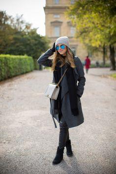 Bellos abrigos de moda | Color gris en invierno