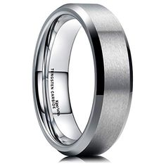 King Will Wedding Band for Men Tungsten Carbide Ring Engagement Ring Comfort Fit Beveled Edges - Buyerstops Ultrasonic Jewelry Cleaner, Tungsten Jewelry, Tungsten Rings, Tungsten Carbide Wedding Bands, Wedding Men, Wedding Vows, Wedding Ideas, Black Rings, Wedding Ring Bands