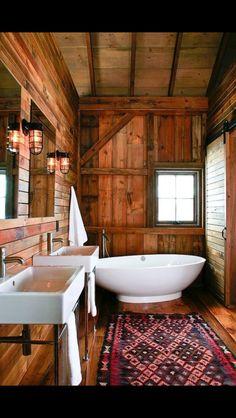 Rustic Cottage Style Bath