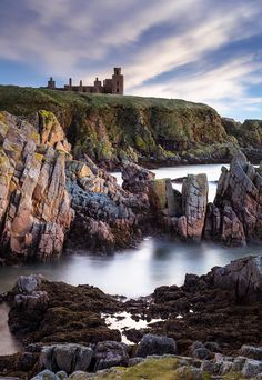 Slains Castle, Cruden Bay, Aberdeenshire, Scotland - Bram Stroker's inspiration for Dracula