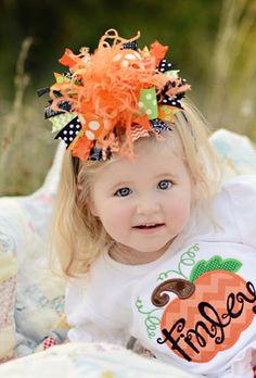Baby Girls Funky Fun Halloween Over the Top Hair Bow Headband