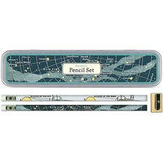 A celestial pencil set from Paper Source.