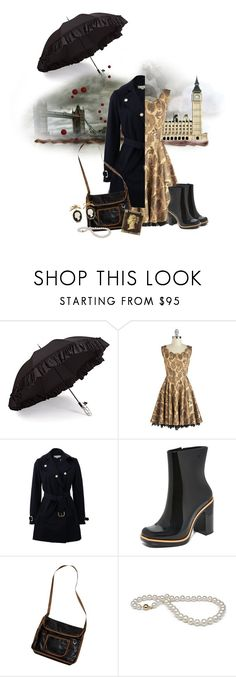 """""""A Rainy Day in London."""" by krgood7 ❤ liked on Polyvore featuring Gizelle Renee, Damsel in a Dress, STELLA McCARTNEY, Melissa, vintage, mysterious, gloomy, teammannequin and katepenna"""